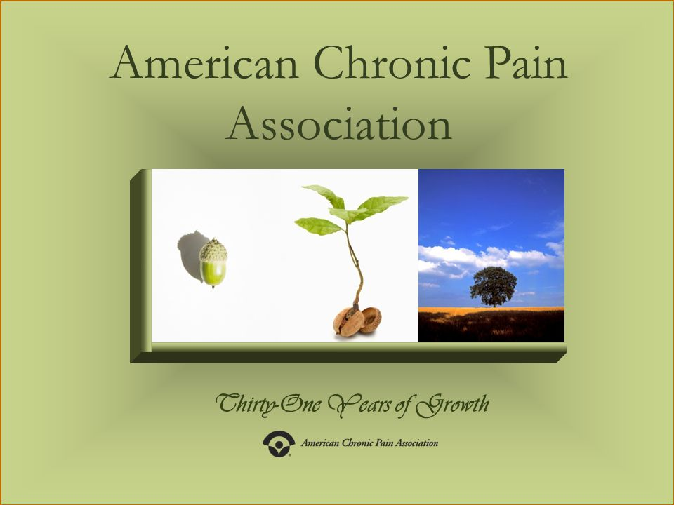 Thirty-One Years of Growth American Chronic Pain Association