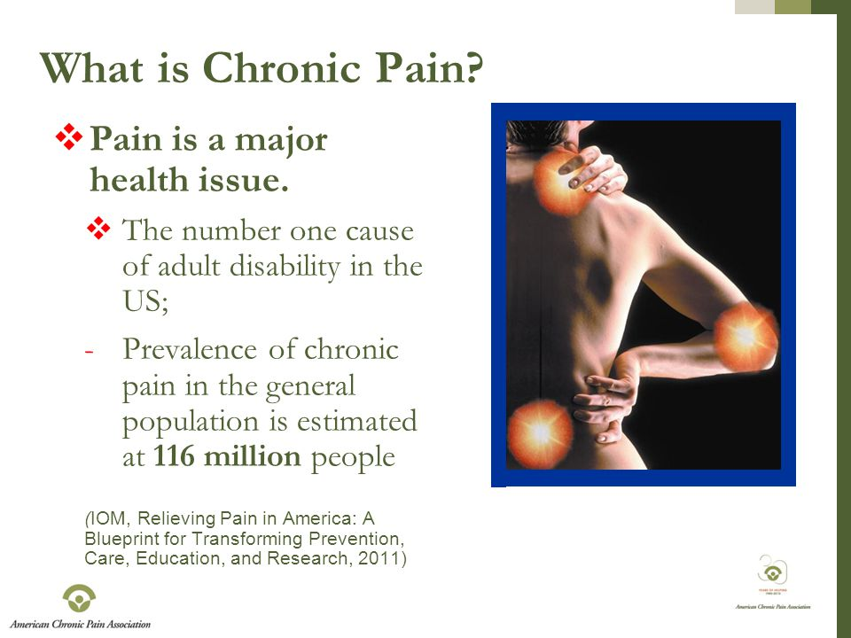 What is Chronic Pain. Pain is a major health issue.
