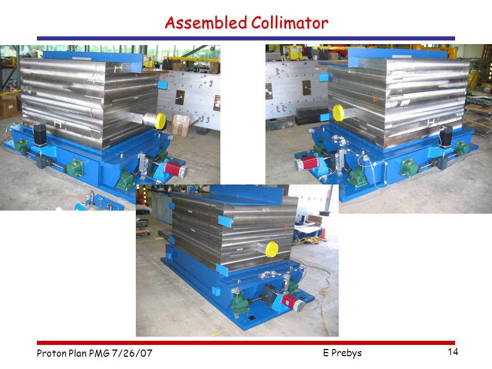 Proton Plan PMG 7/26/07 E Prebys 14 Assembled Collimator