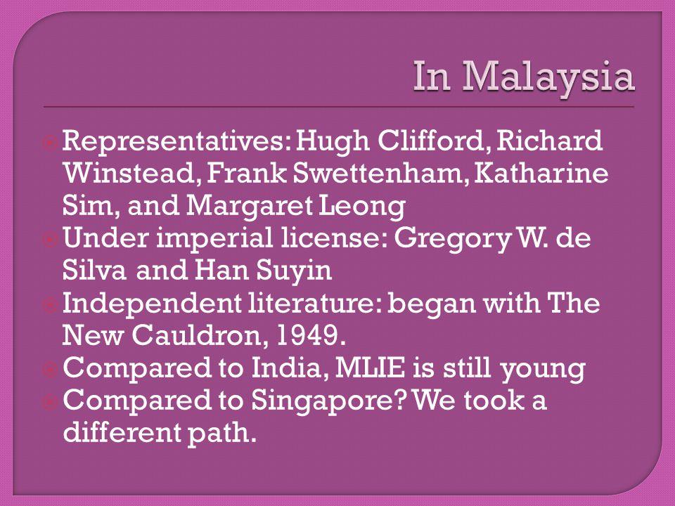  Pioneers: Wong Phui Nam, Lloyd Fernando, Lee Kok Liang, and Ee Tiang Hong  2 nd generation: Shirley Lim, K.S.