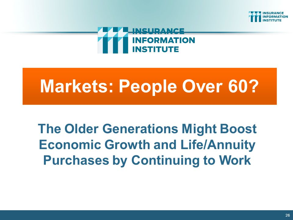 26 Markets: People Over 60.