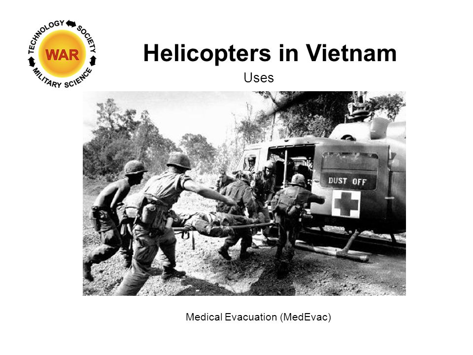 Helicopters in Vietnam Uses Medical Evacuation (MedEvac)