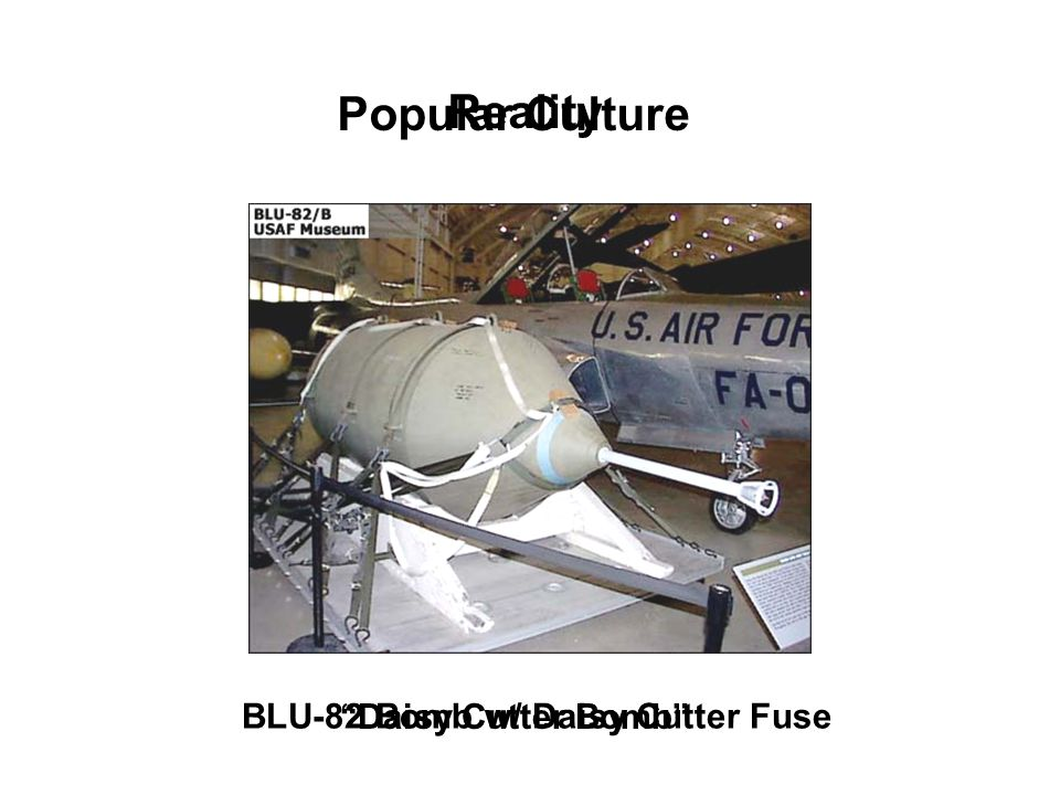 Popular Culture Daisy Cutter Bomb Reality BLU-82 Bomb w/ Daisy Cutter Fuse