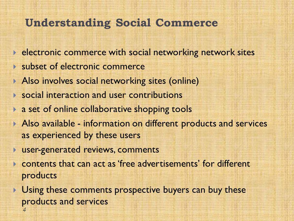 Understanding Social Commerce..contd..
