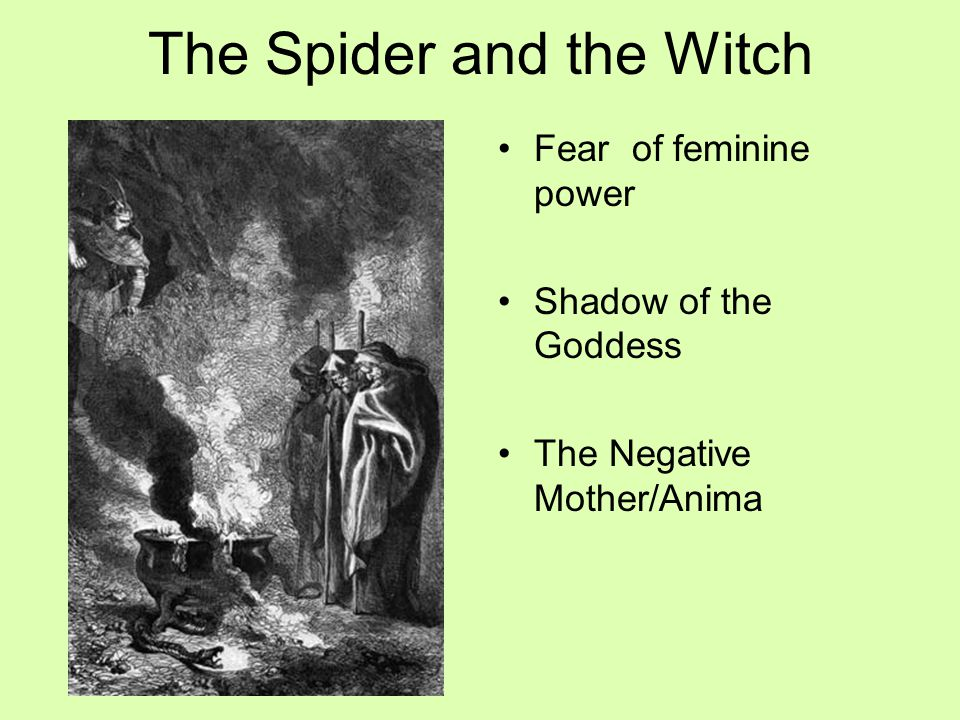 The Spider and the Witch Fear of feminine power Shadow of the Goddess The Negative Mother/Anima