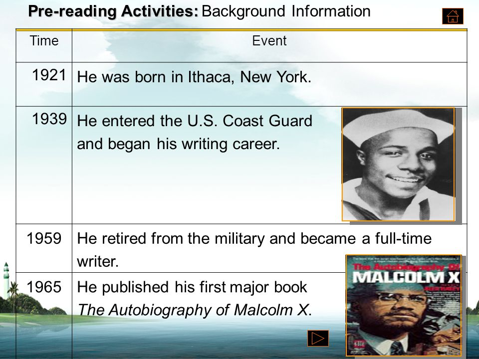 Pre-reading Activities: Pre-reading Activities: Background Information