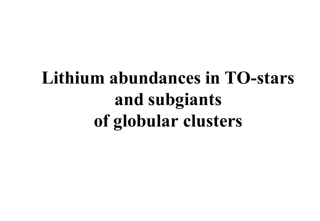 Lithium abundances in TO-stars and subgiants of globular clusters