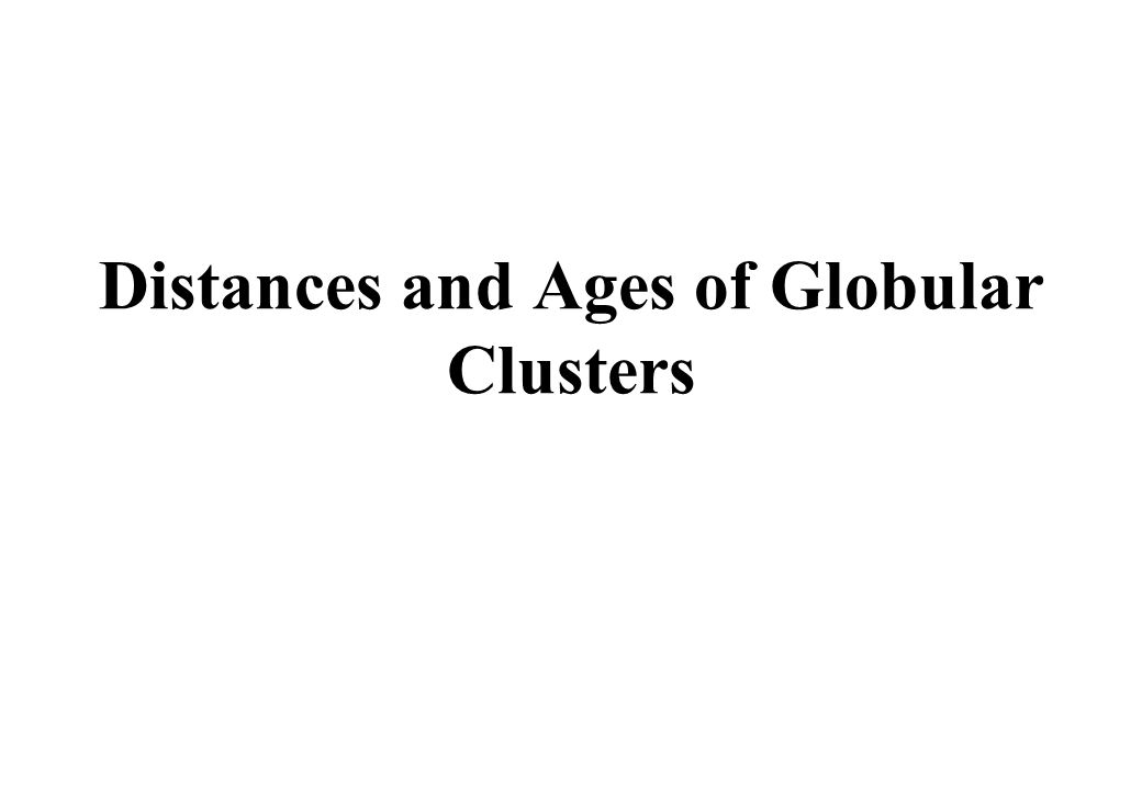 Distances and Ages of Globular Clusters