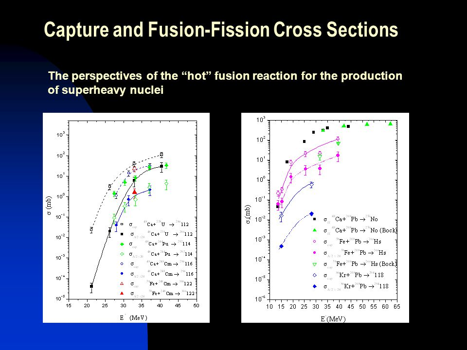 Capture and Fusion-Fission Cross Sections The perspectives of the hot fusion reaction for the production of superheavy nuclei