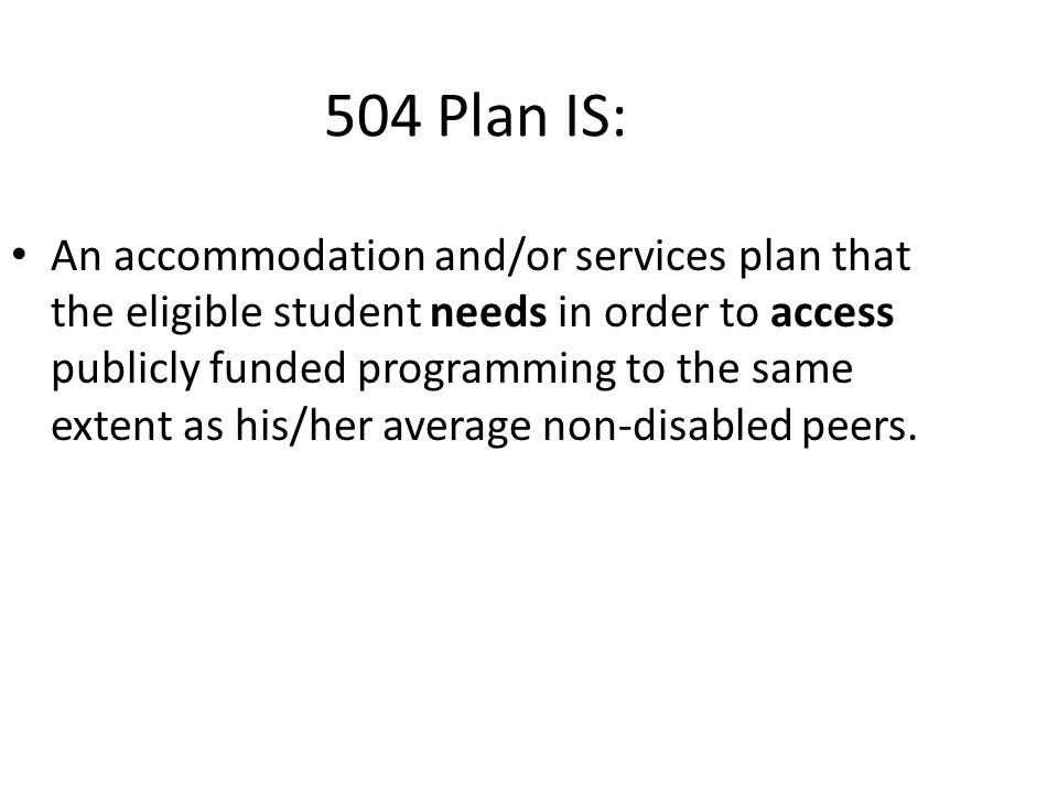 Section 504 …has a physical or mental impairment which substantially limits one or more major life activities, had a record of such impairment, or is regarded as having such an impairment, 29 USC § 706 (8)(B)