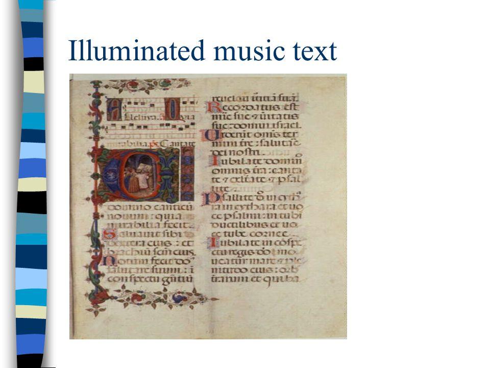 Illuminated music text