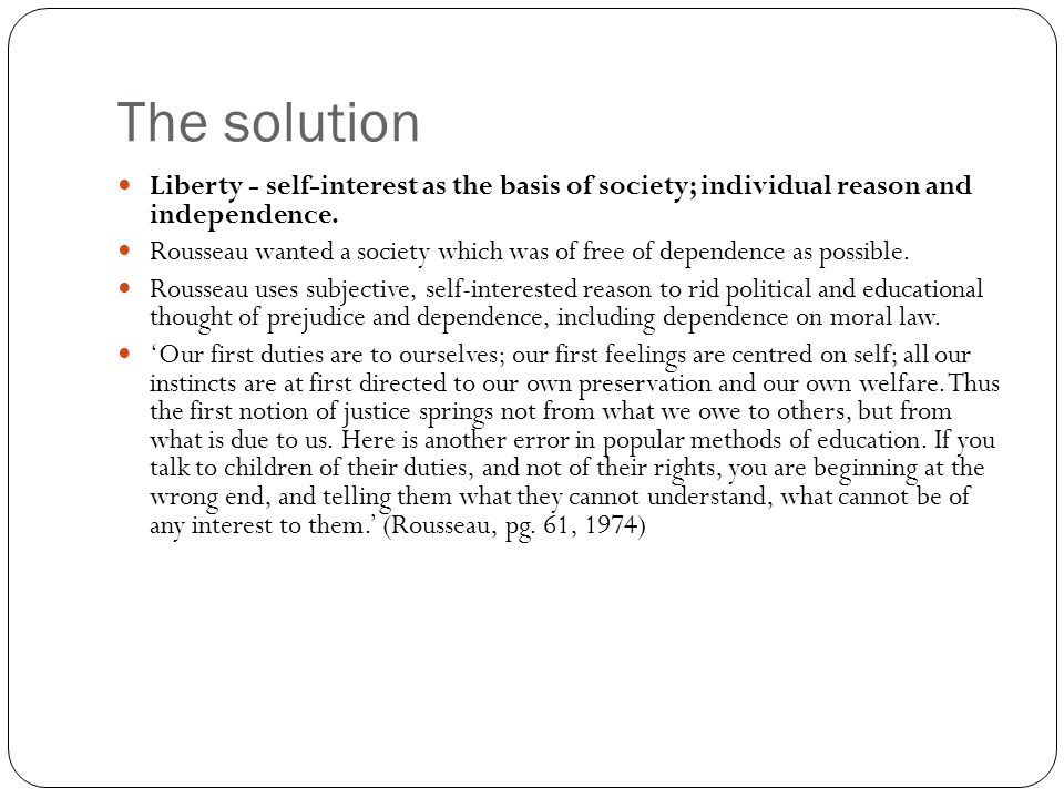 problem solution servitude liberty rousseau essay question how  7 the