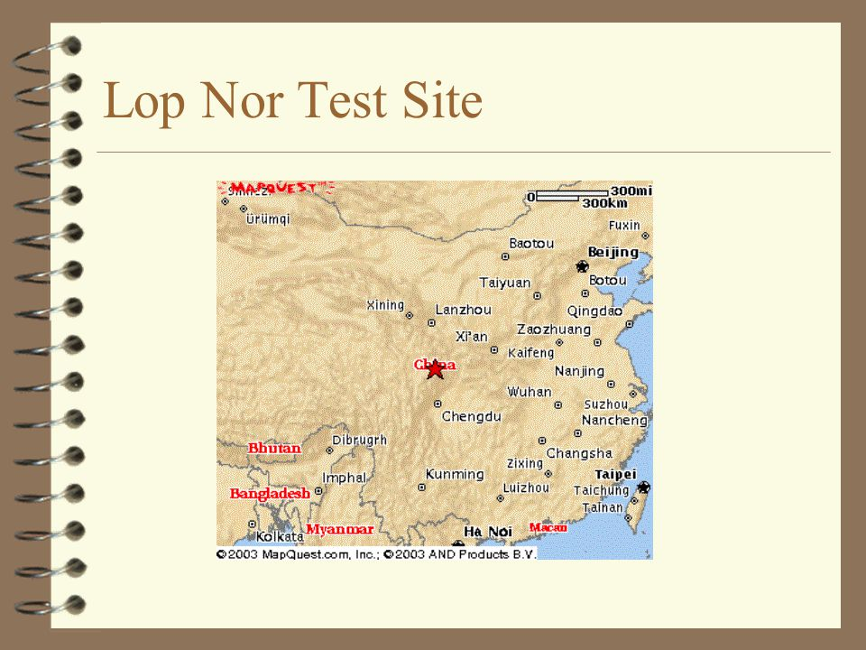 Lop Nor Test Site
