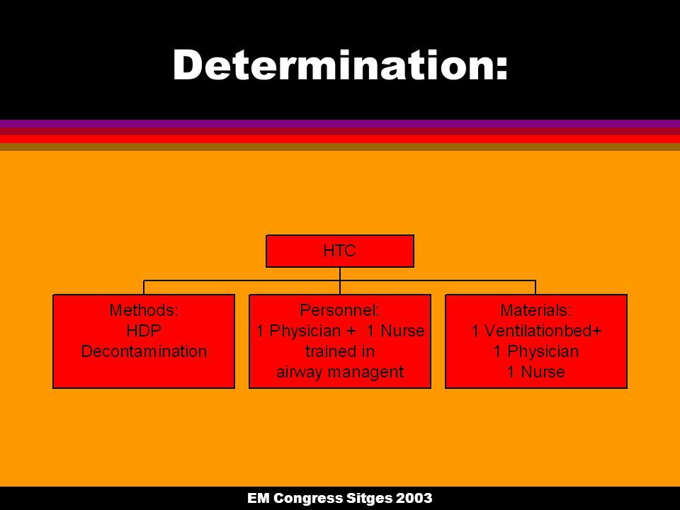 EM Congress Sitges 2003 Determination: