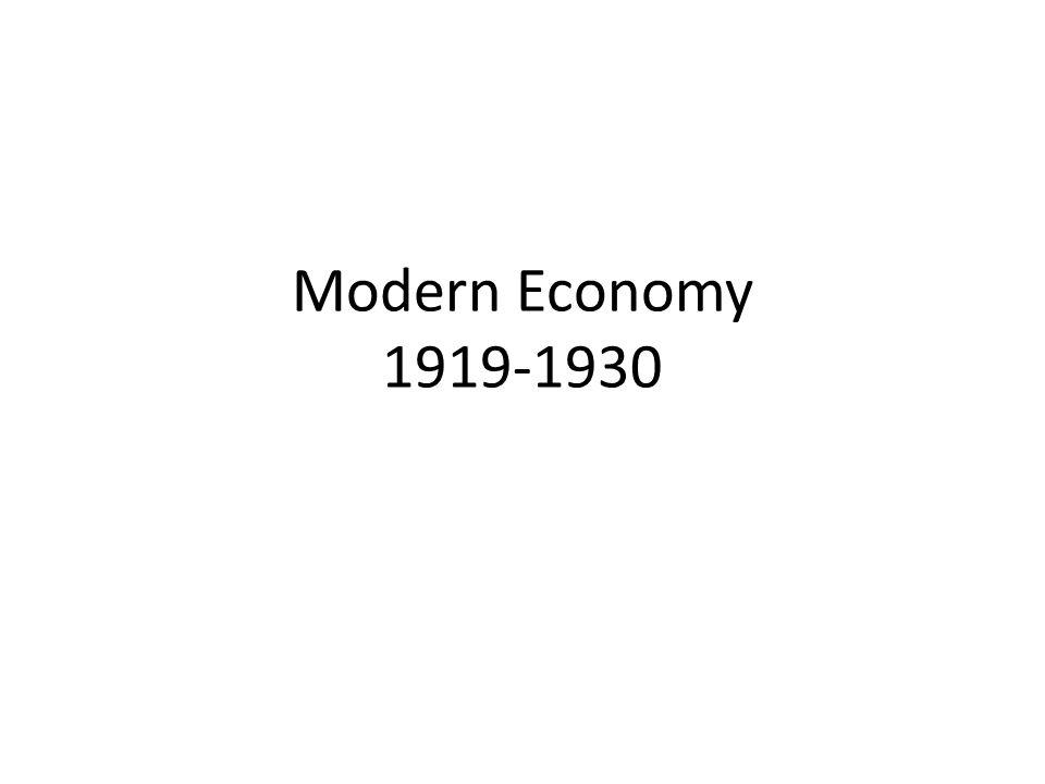 Modern Economy 1919-1930