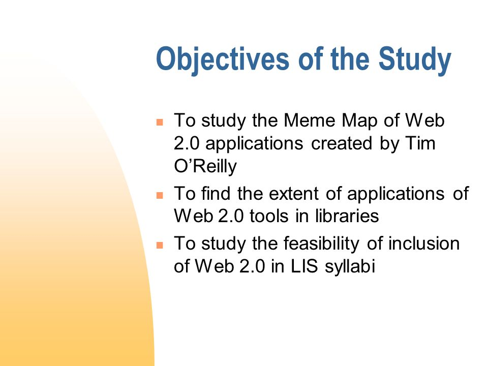 The Study Questionnaire related to  the extent of use of a defined list of Web 2.0 applications in libraries  student competencies in handling Web 2.0 applications expected by their prospective employers.