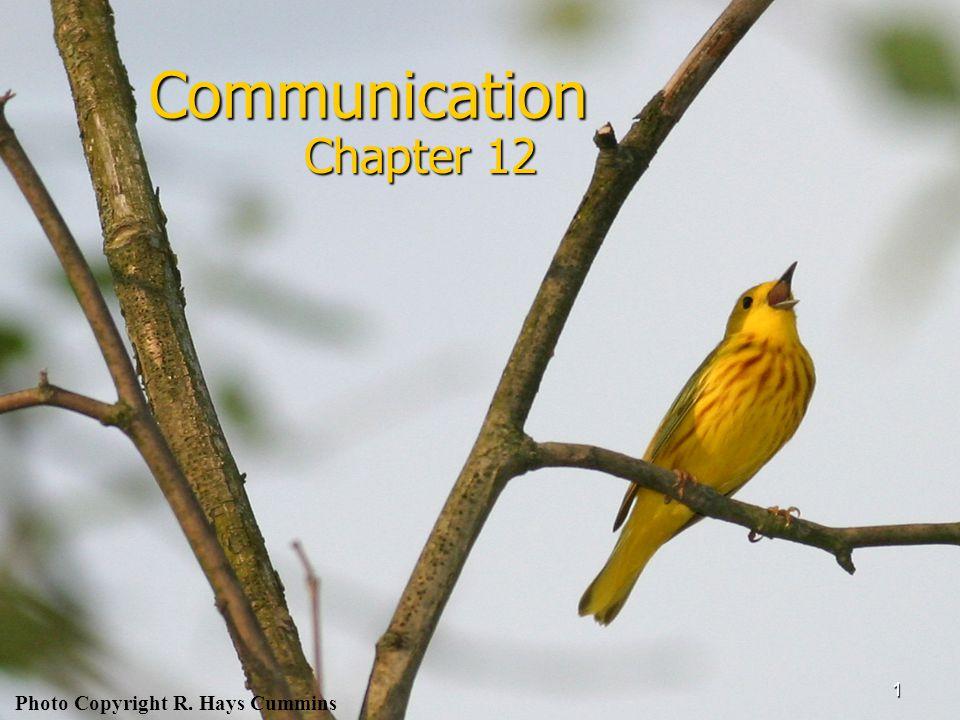 1 Communication Chapter 12 Photo Copyright R. Hays Cummins