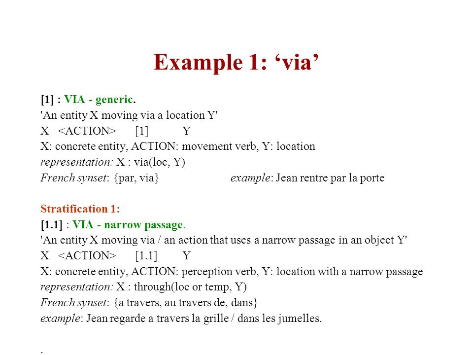 Example 1: 'via' [1] : VIA - generic.