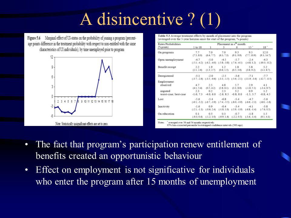 A disincentive .