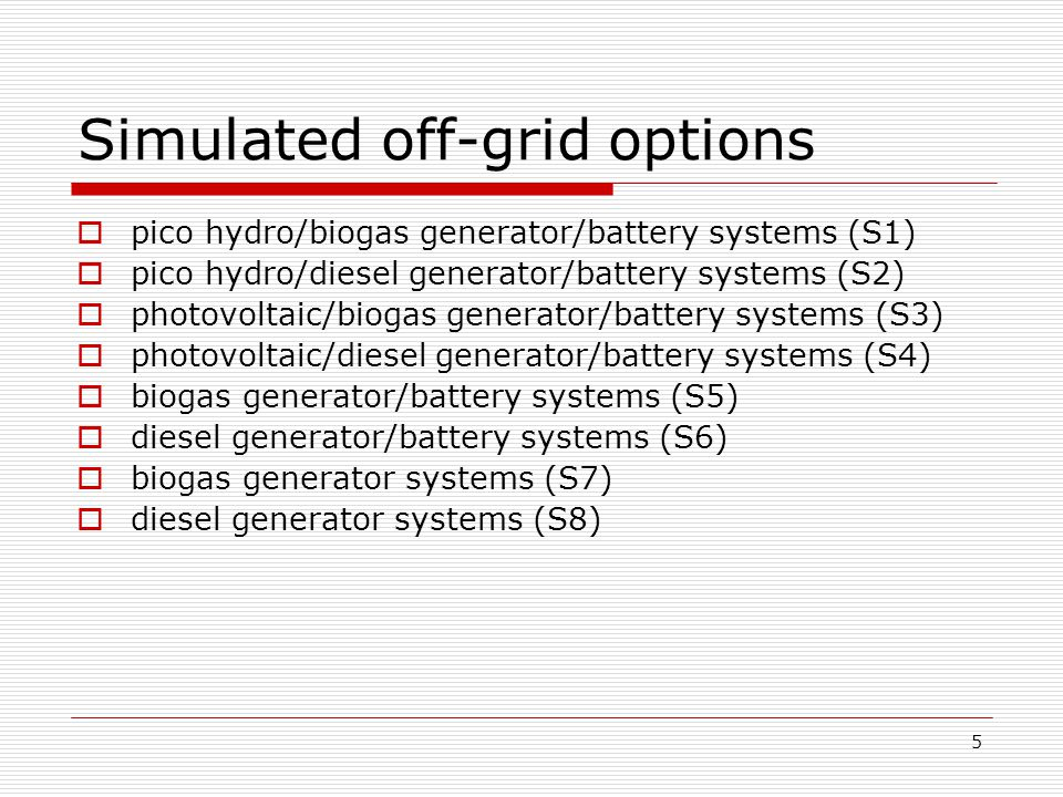 6 Simulation Data  Typical village power demand  Typical pico hydro resource  Typical solar resource  Financial data