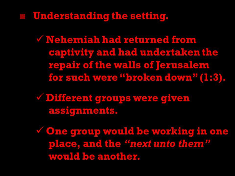 4 Understanding the setting.