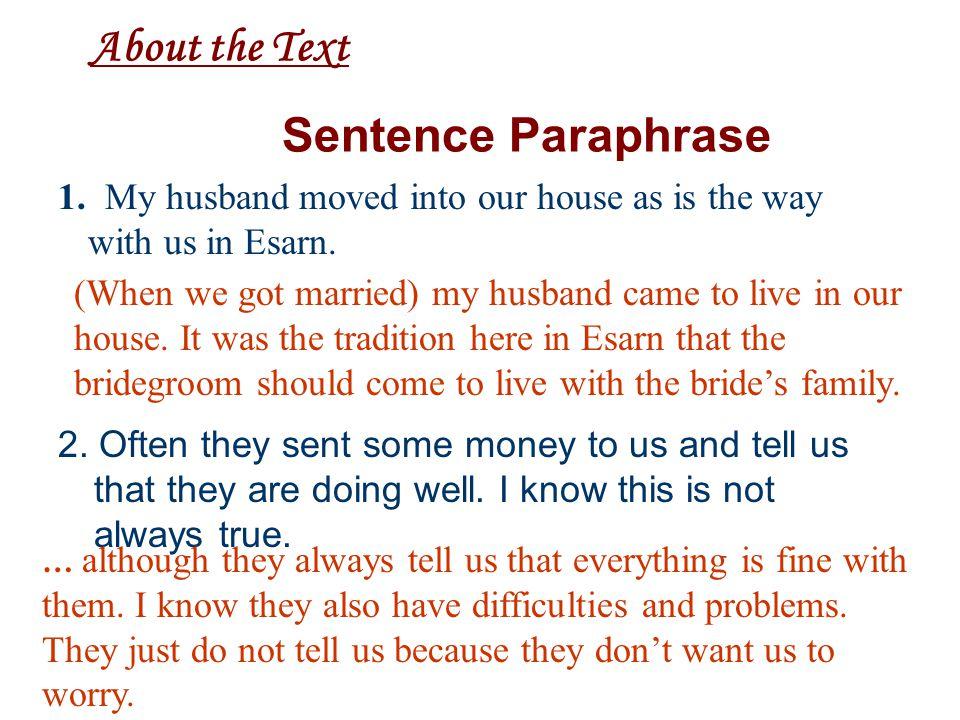 Unit 3 Message of the Land Pira Sudham SentenceParaphrase Word Study