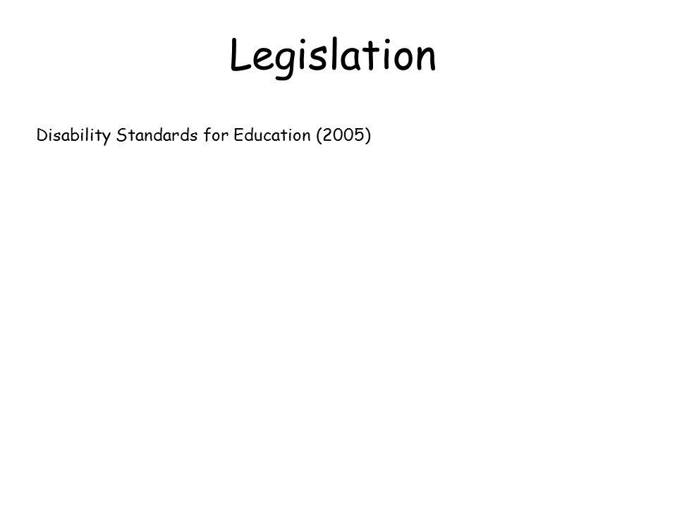 Legislation Disability Standards for Education (2005)