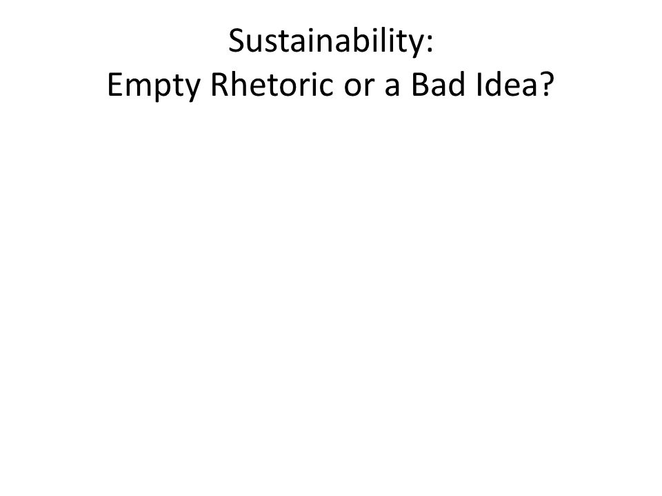 Empty Rhetoric