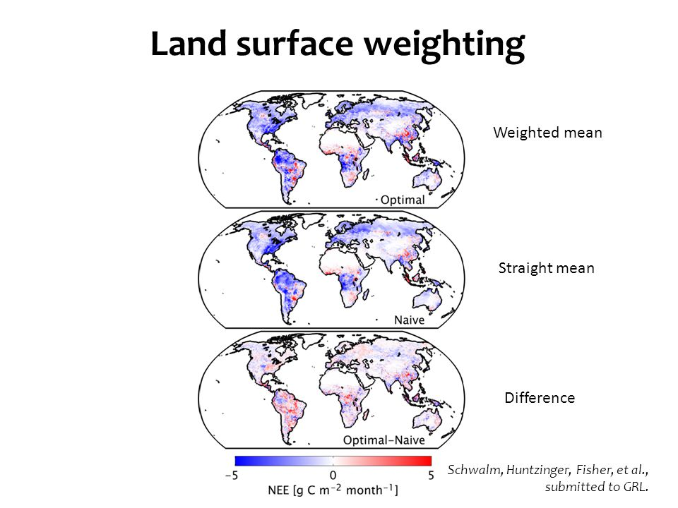 Land surface weighting Schwalm, Huntzinger, Fisher, et al., submitted to GRL.