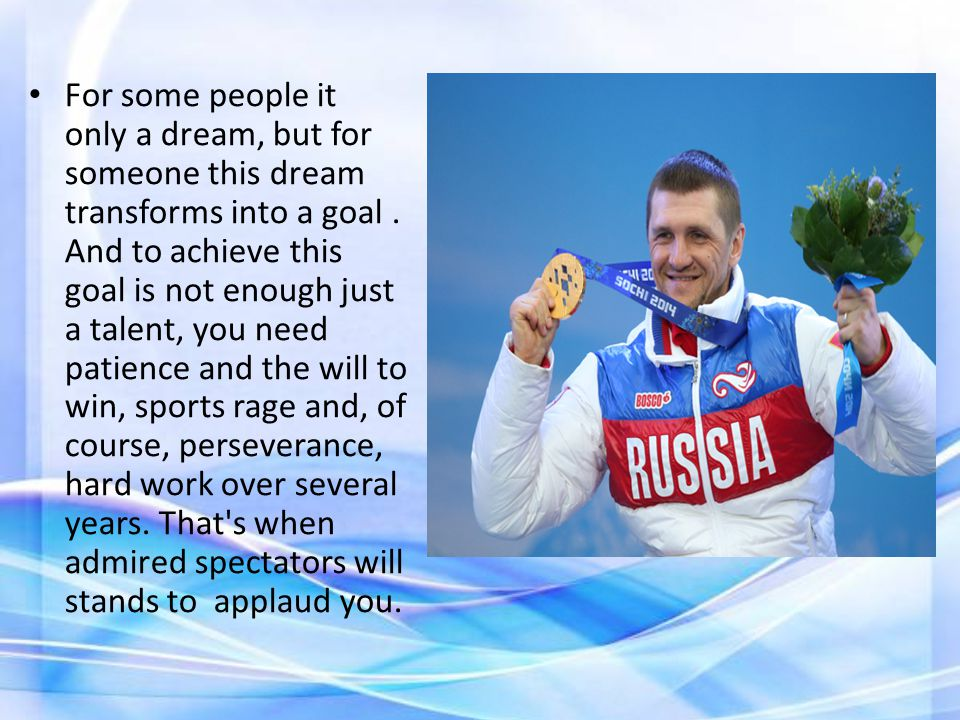 There are many examples when people have been made an Olympic champion, but result is very poor.