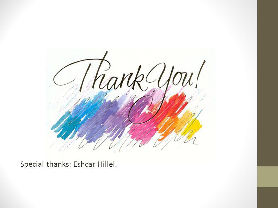 Special thanks: Eshcar Hillel.