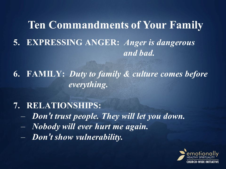 5.EXPRESSING ANGER: Anger is dangerous and bad.