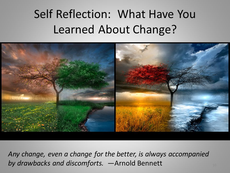 Self Reflection: What Have You Learned About Change.