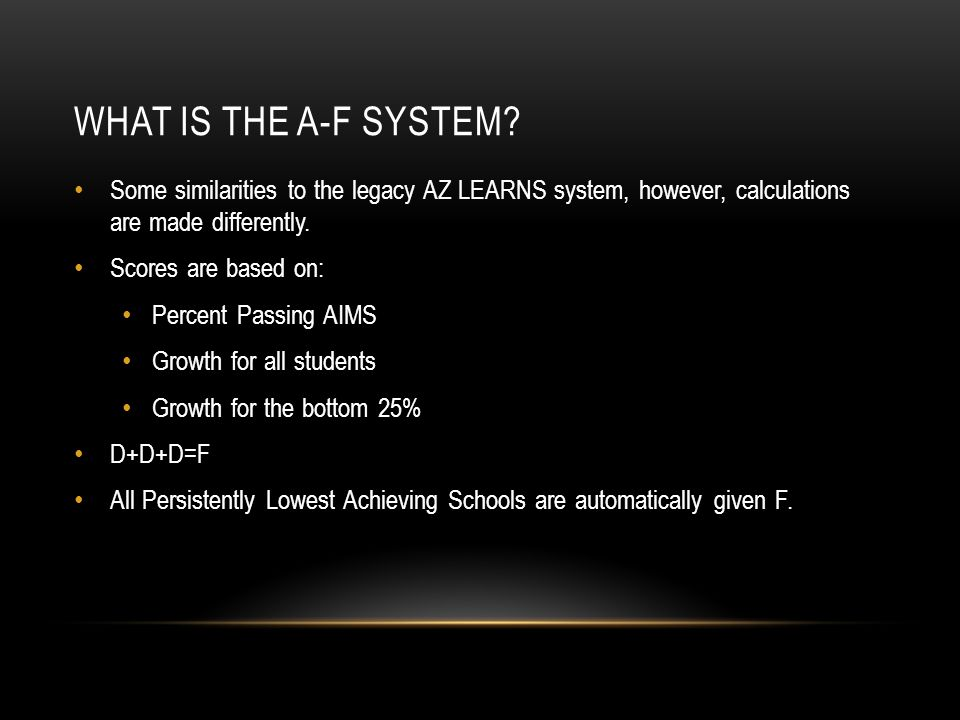 WHAT IS THE A-F SYSTEM.