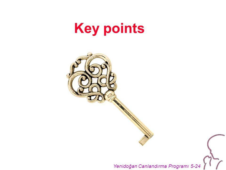 Yenidoğan Canlandırma Programı 5-24 Key points