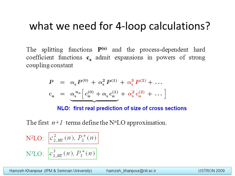 what we need for 4-loop calculations.