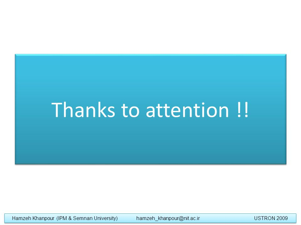 Thanks to attention !.