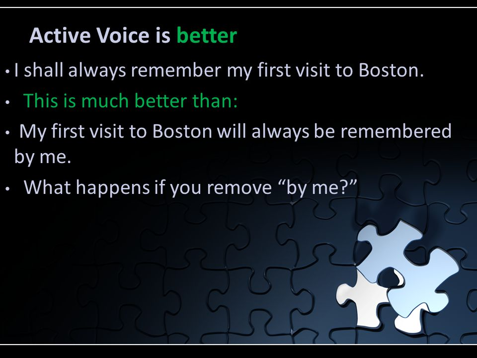 I shall always remember my first visit to Boston.