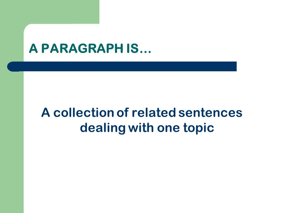 WHAT IS A TOPIC SENTENCE.The Topic Sentence: Expresses the main idea of a paragraph.