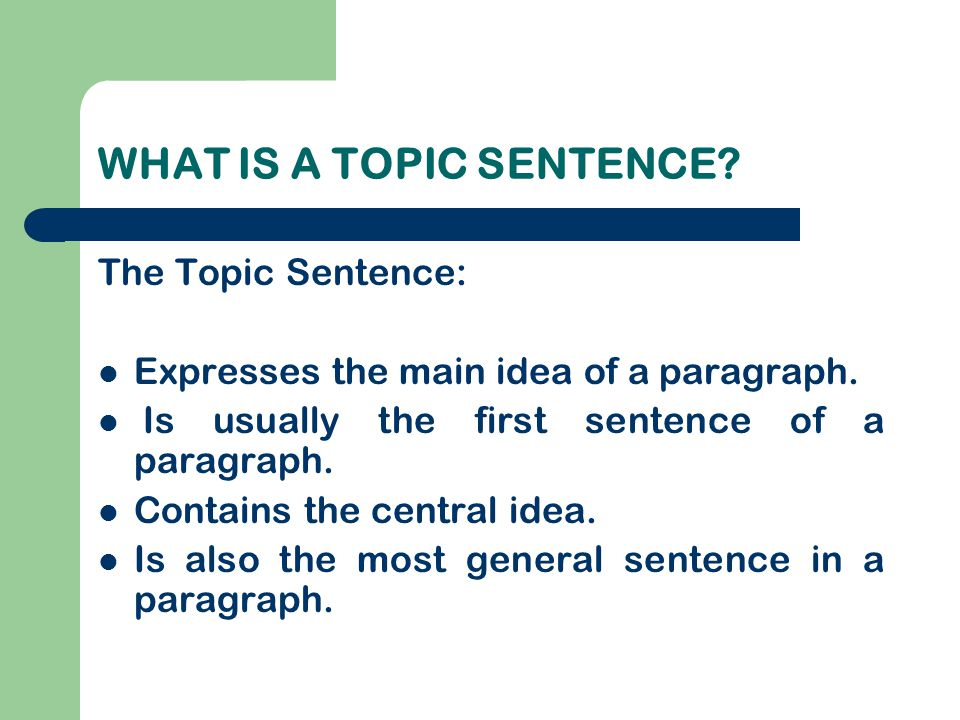 FORM Make sure your paragraph: Has a five-space indentation.