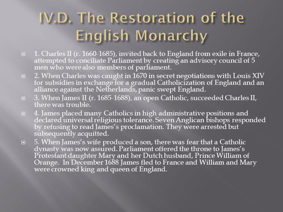  1. Charles II (r.