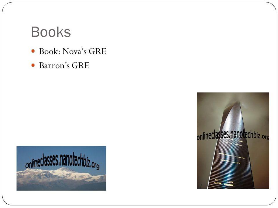 Books Book: Nova's GRE Barron's GRE
