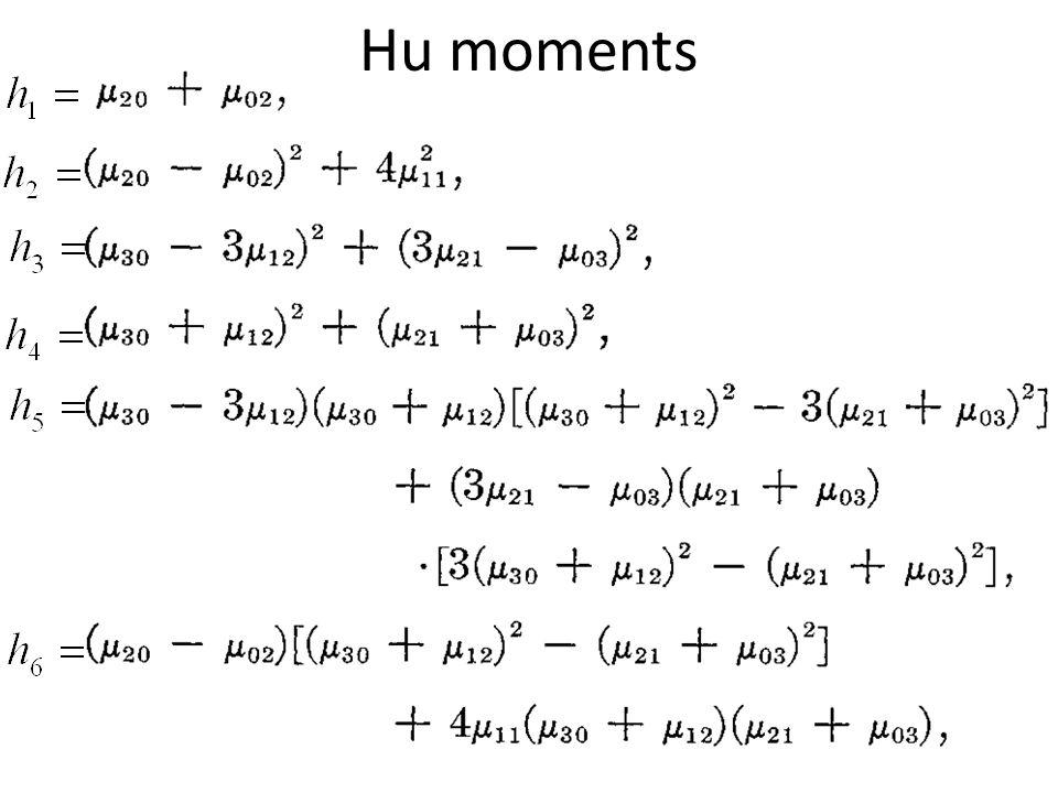Hu moments