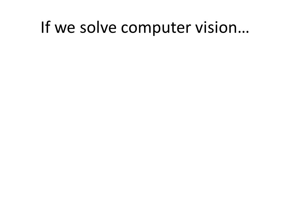 If we solve computer vision…