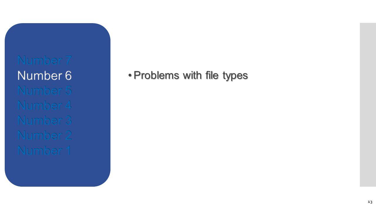 Problems with file typesProblems with file types 13