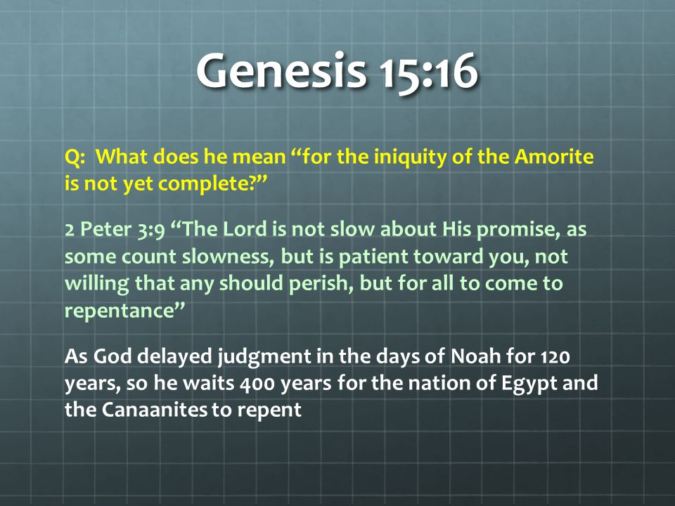 Genesis 15:19-21 the Kenizzite – Japhunneh, the father of Caleb was from this family (Numb.