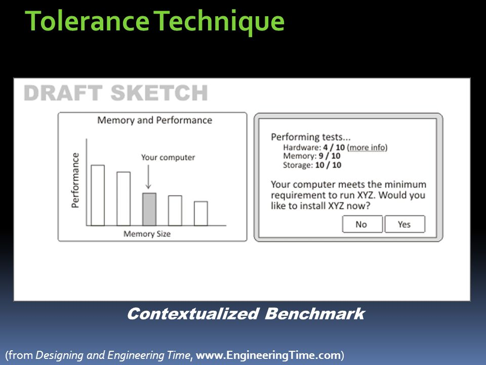 Tolerance Technique Contextualized Benchmark (from Designing and Engineering Time, www.EngineeringTime.com)