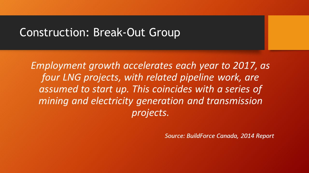 Construction: Break-Out Group Market pressure may need to be offset by the fly-in, fly-out work arrangements that have become more common in the West over the last decade.