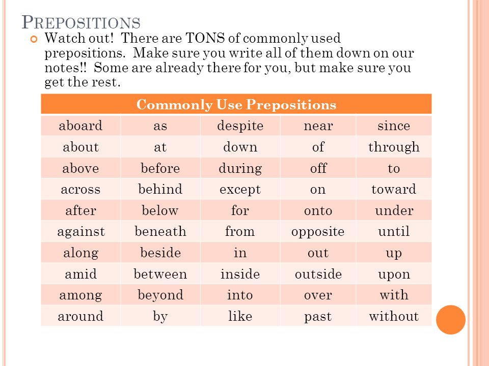 T ELLING PREPOSITIONS AND ADVERBS APART Introduction Activity: Let's practice our song we learned from yesterday first.