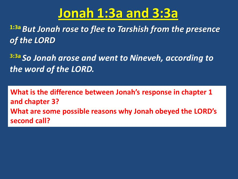 Why does Jonah go to Nineveh this time.